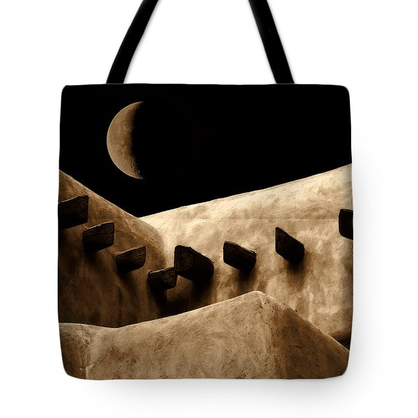 Moon Over Santa Fe Tote Bag