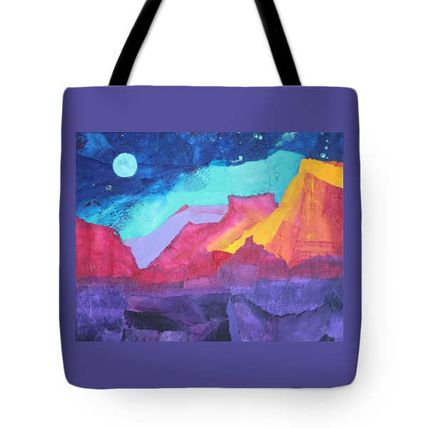 Moon Over Sedona Tote Bag by Nancy Jolley