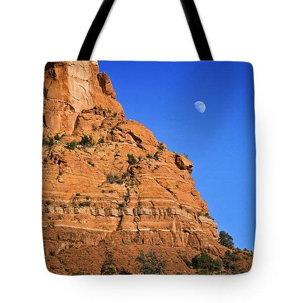 Moon Over Sedona Tote Bag