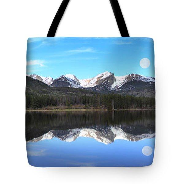 Moon Over Sprague Lake Tote Bag