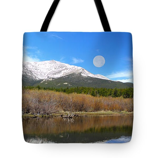 Moon Over St. Malo Tote Bag by Shane Bechler