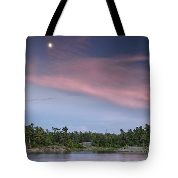 Moon Over The Bay Tote Bag by Phill Doherty