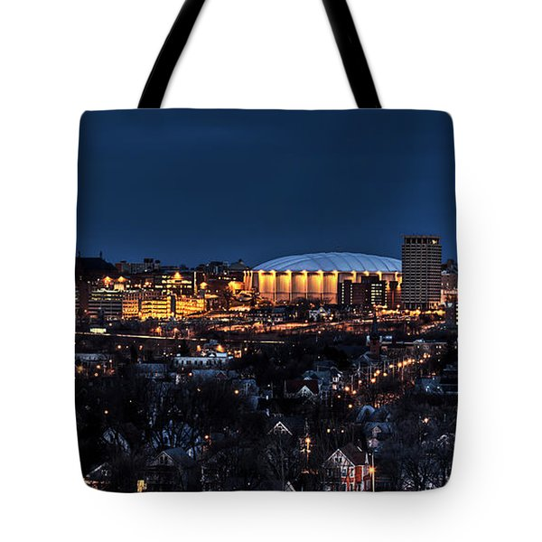 Moon Over The Carrier Dome Tote Bag