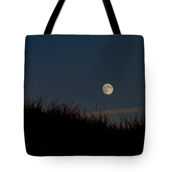 Moon Over The Dunes Tote Bag