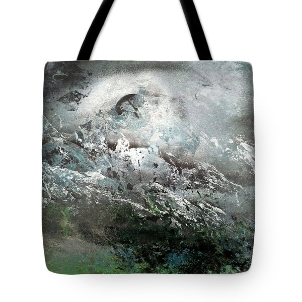 Moon Over The Mountains Tote Bag