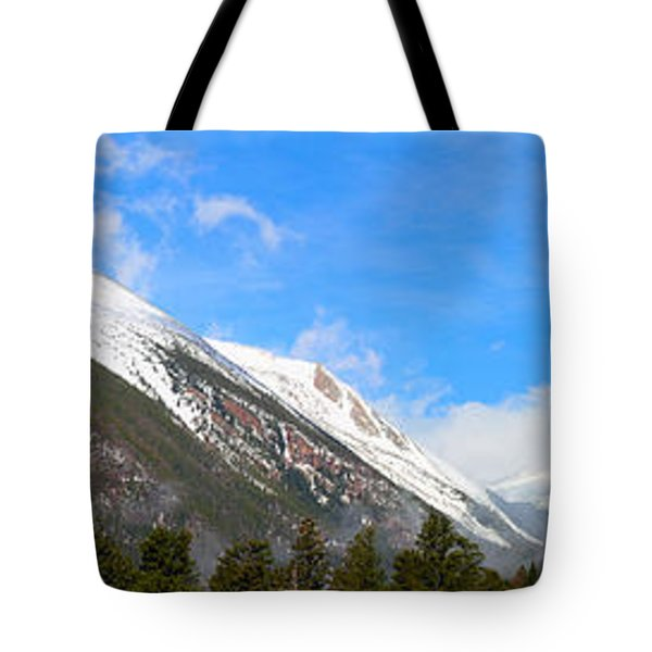 Moon Over The Rockies Tote Bag