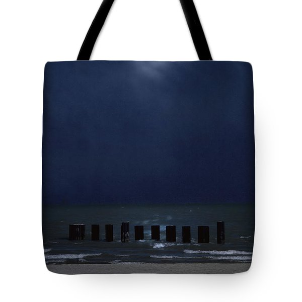 Moon Over Waters Tote Bag by Margie Hurwich