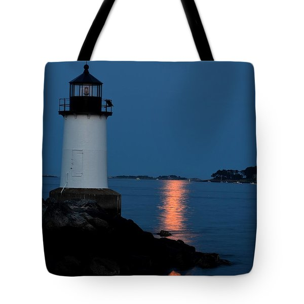 Moon Over Winter Island Salem Ma Tote Bag