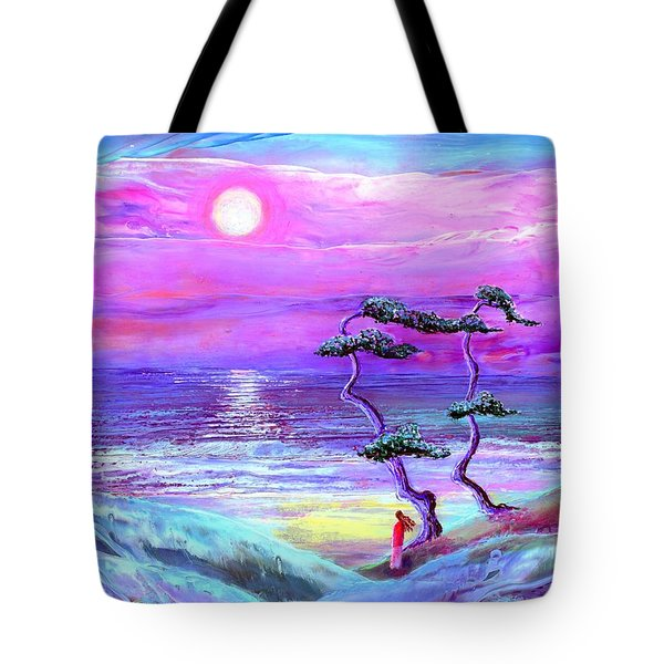 Moon Pathway,seascape Tote Bag