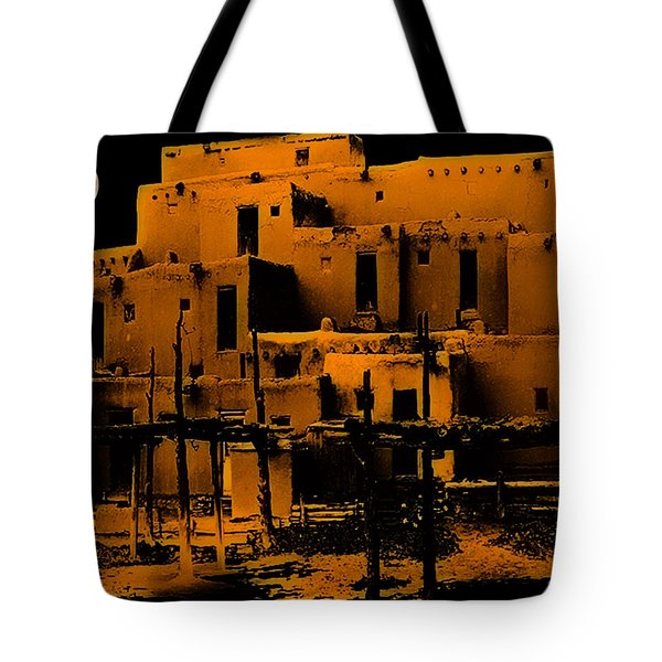 Moon Rise At The Pueblo Tote Bag