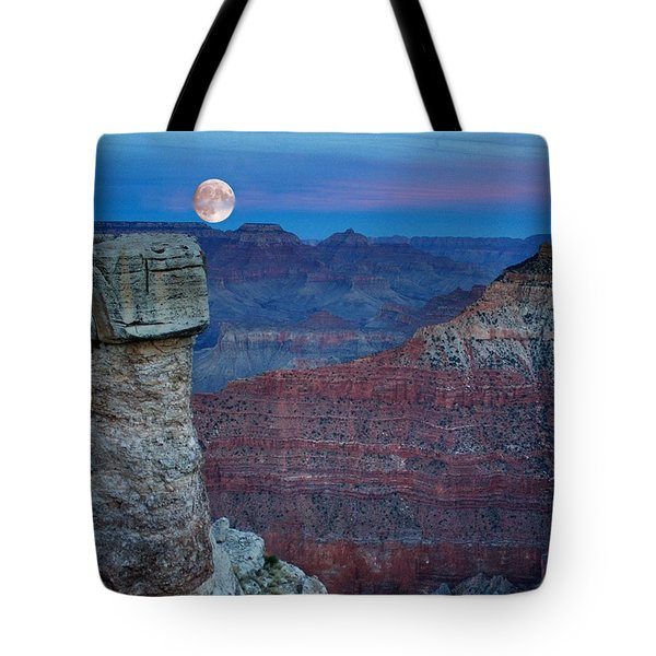 Moon Rise Grand Canyon Tote Bag