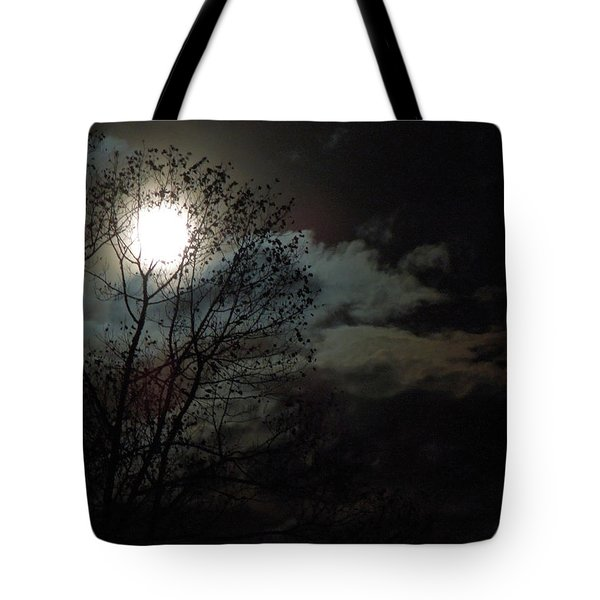 Tote Bag featuring the photograph Moon Rise by Pete Trenholm