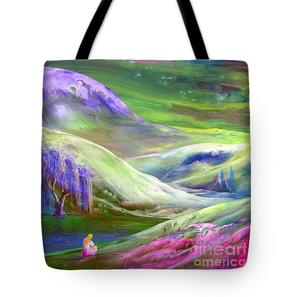 Tote Bag featuring the painting Moon Shadow by Jane Small