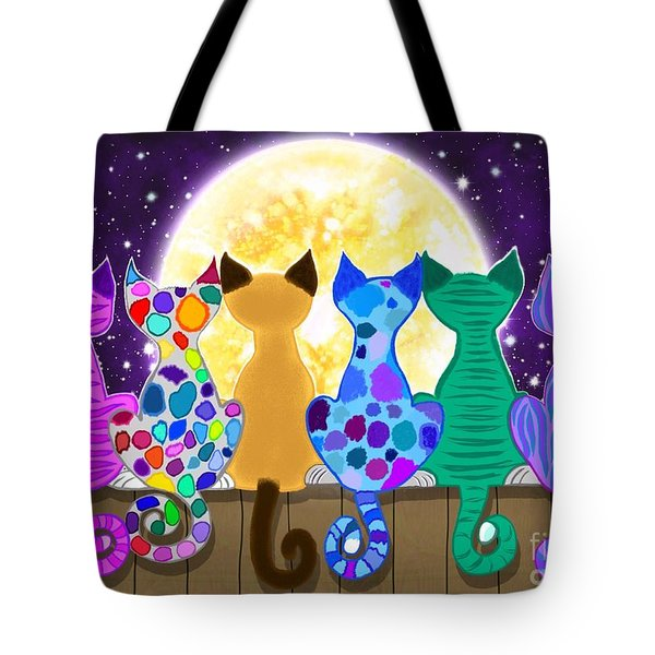 Moon Shadow Meow Tote Bag