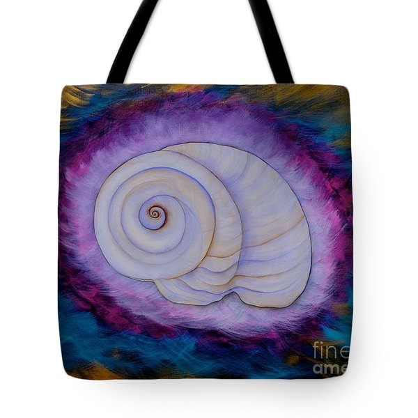 Moon Snail Tote Bag by Deborha Kerr