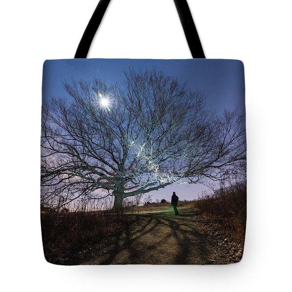 Moon Tree Tote Bag