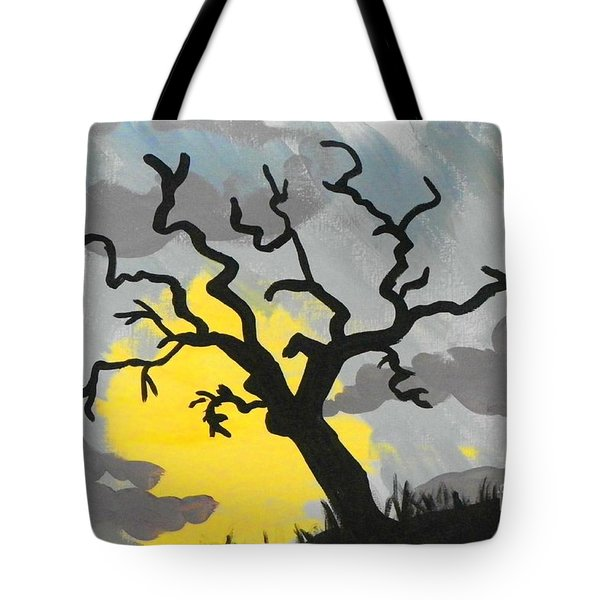 Moon Tree Tote Bag by Marisela Mungia