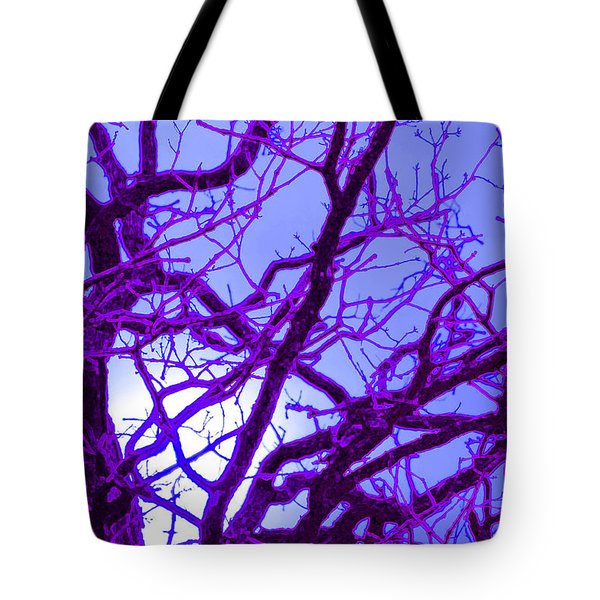 Moon Tree Purple Tote Bag by First Star Art
