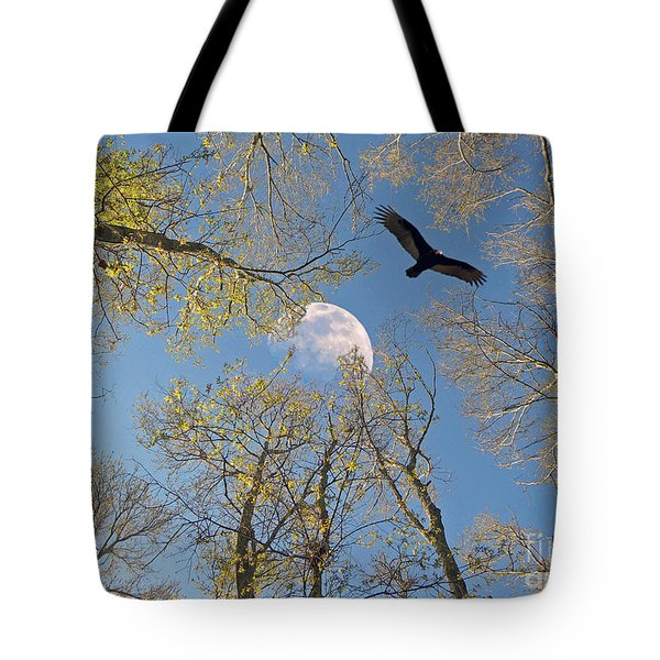 Tote Bag featuring the photograph Moon Trees by Savannah Gibbs