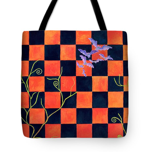 Flight Of The Moon Witch Checkerboard Tote Bag