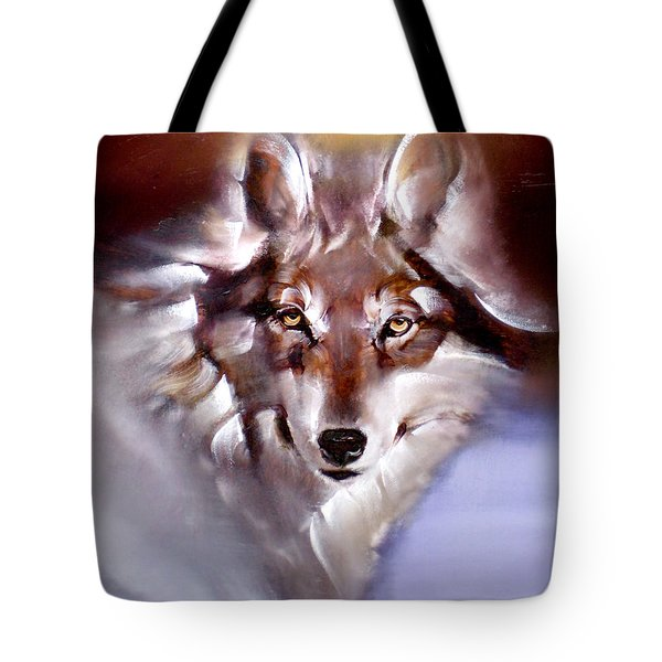 Moon Wolf Tote Bag