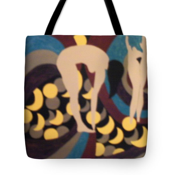 Tote Bag featuring the painting Mooned by Erika Chamberlin