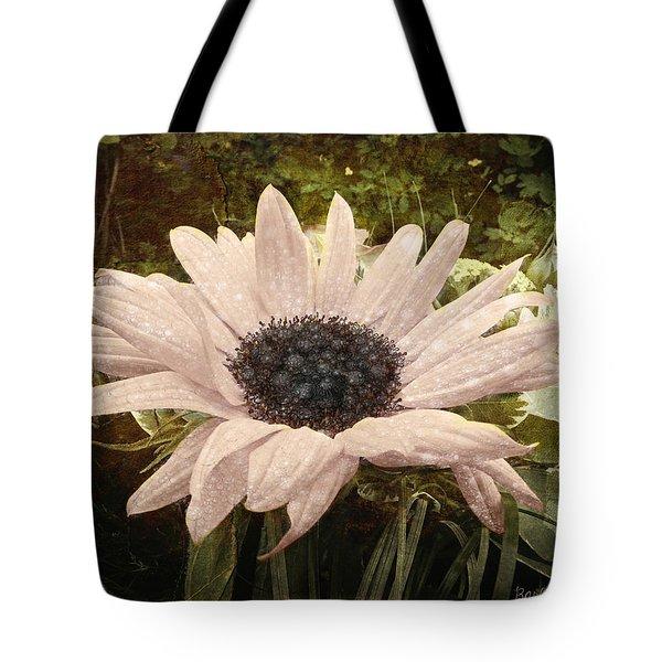 Tote Bag featuring the digital art Moonflower by Barbara Orenya
