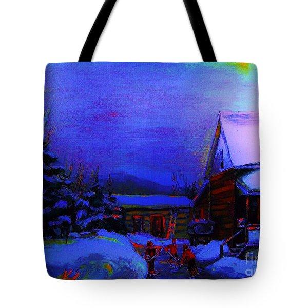 Moonglow On Powder Tote Bag by Carole Spandau
