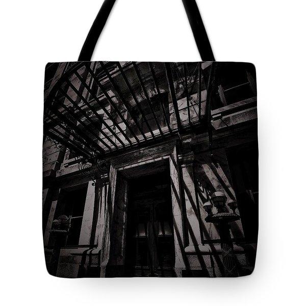 Moonin Munster Manor Tote Bag by Robert McCubbin