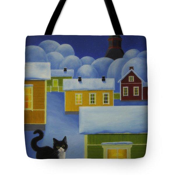 Moonlight Cat Tote Bag
