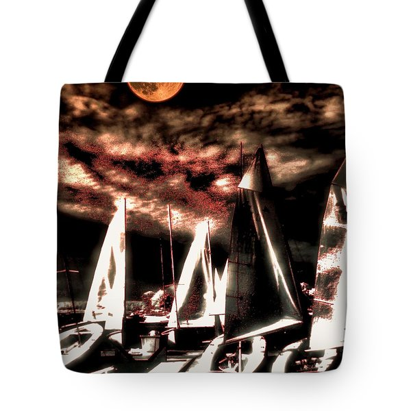 Tote Bag featuring the tapestry - textile Moonlight Cruise by Robert McCubbin