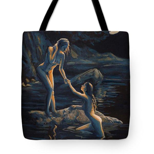 Moonlight Flame Tote Bag by Marco Busoni
