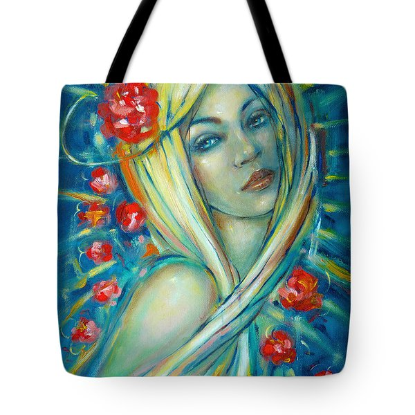 Moonlight Flowers 030311 Tote Bag by Selena Boron
