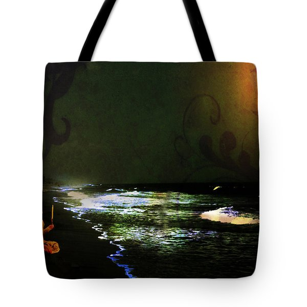 Moonlight Gives Girl Hope In The Darkness Tote Bag