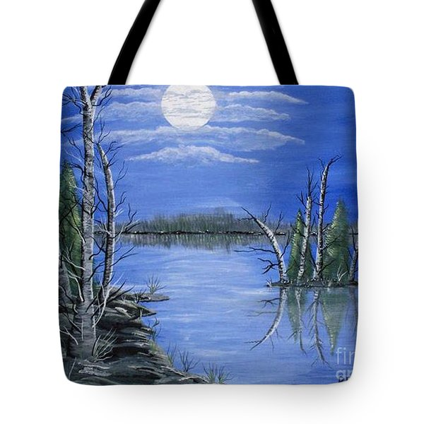 Moonlight Mist Tote Bag
