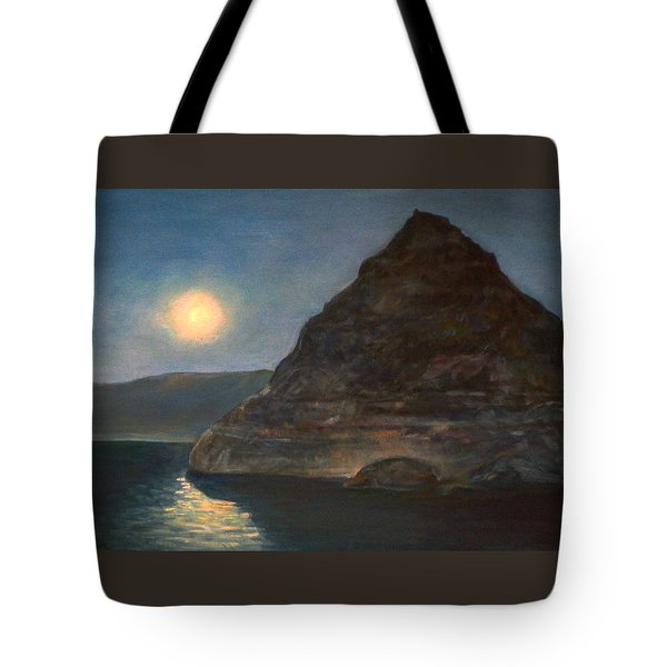 Moonlight On Pyramid Lake Tote Bag