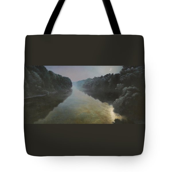 Moonlight On The Great Pee Dee Tote Bag by Blue Sky