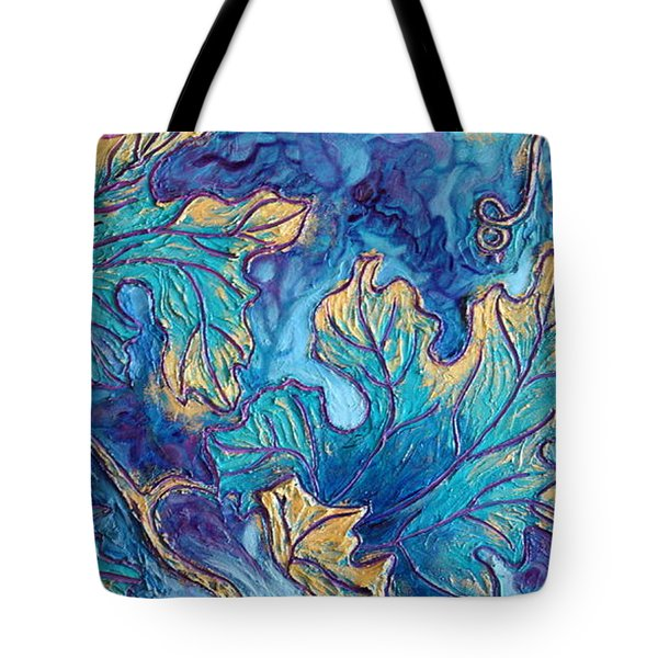 Tote Bag featuring the painting Moonlight On The Vine by Sandi Whetzel