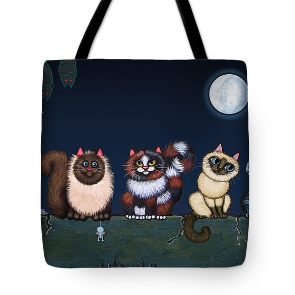 Moonlight On The Wall Tote Bag