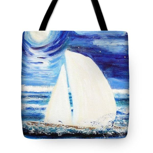 Moonlight Sail Tote Bag