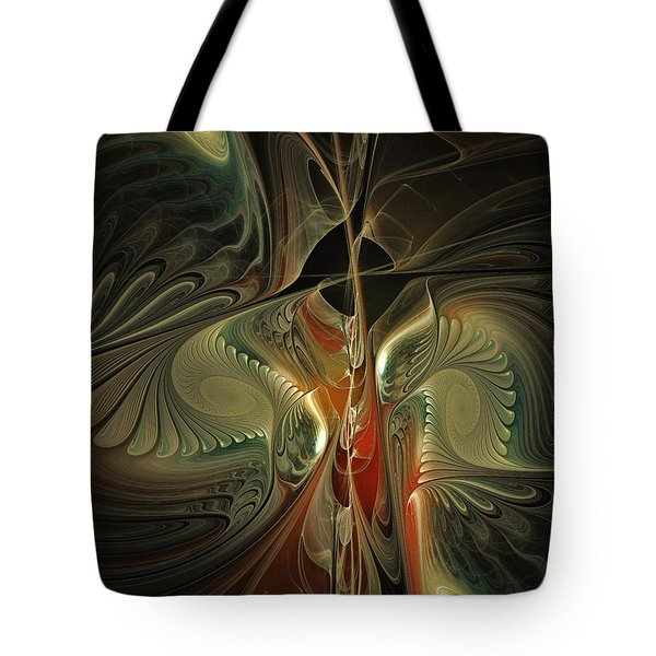 Moonlight Serenade Fractal Art Tote Bag