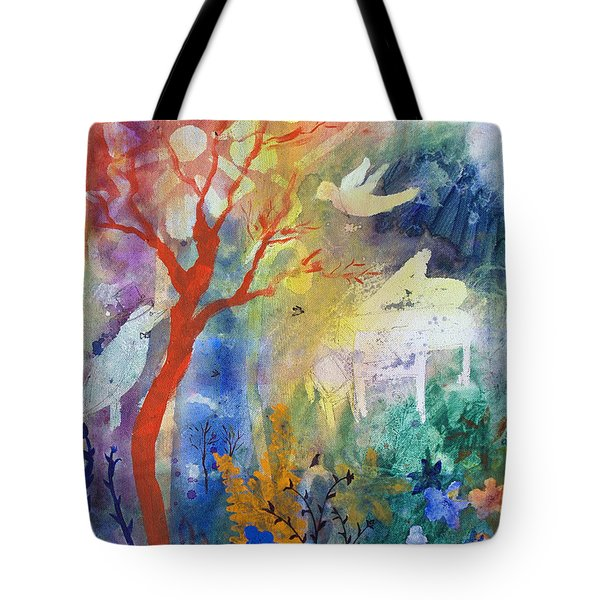 Tote Bag featuring the painting Moonlight Serenade by Robin Maria Pedrero