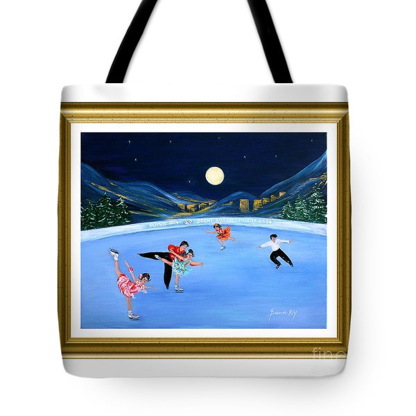 Moonlight Skating. Inspirations Collection. Card Tote Bag by Oksana Semenchenko