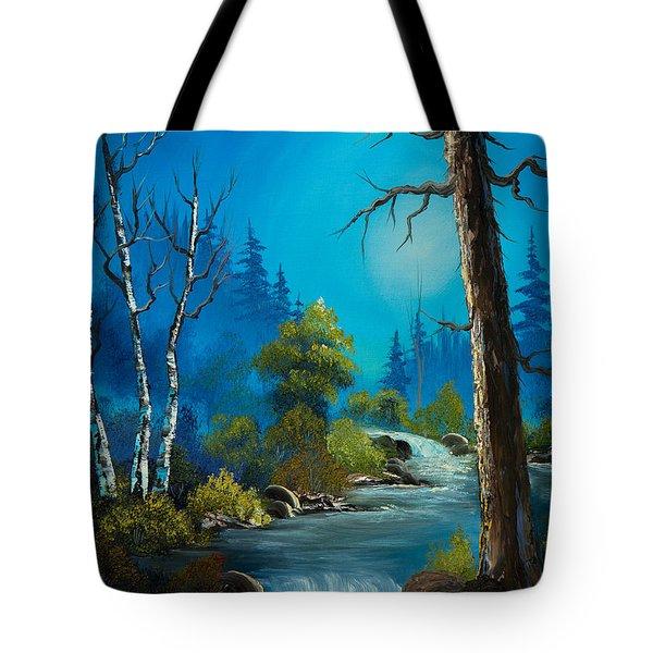 Moonlight Stream Tote Bag by C Steele