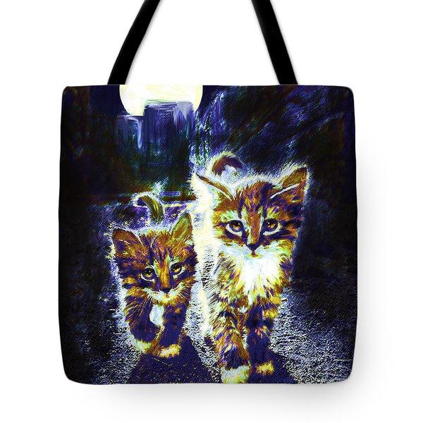 Moonlight Travelers Tote Bag by Jane Schnetlage