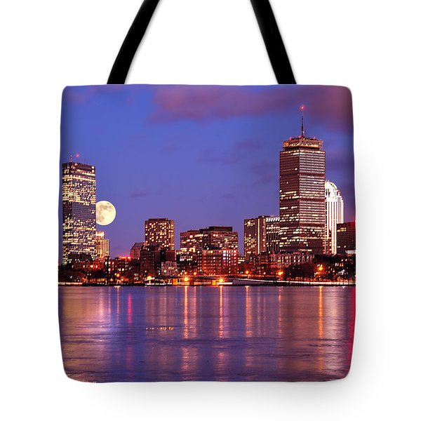 Moonlit Boston On The Charles Tote Bag