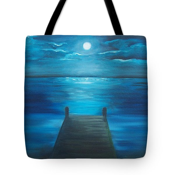 Moonlit Dock Tote Bag