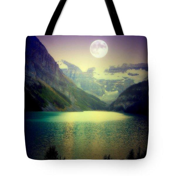 Moonlit Encounter Tote Bag