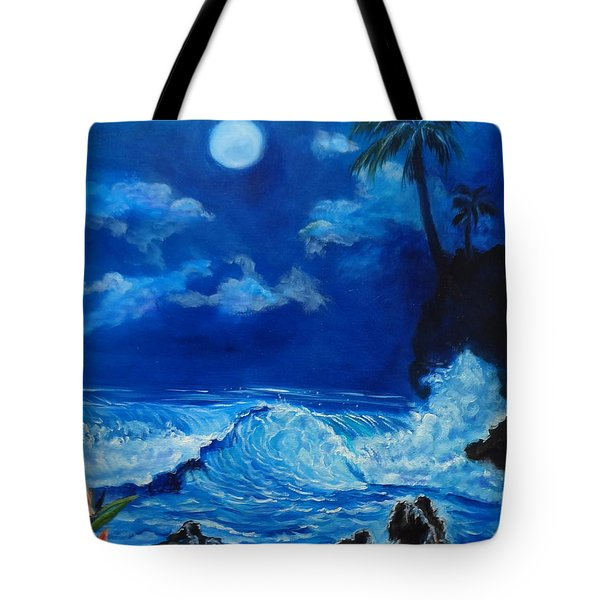 Moonlit Hawaiian Night Tote Bag