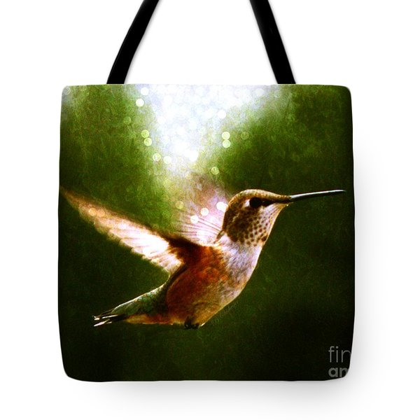 Moonlit Iridescence  Tote Bag by Barbara Chichester